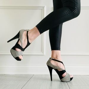 {Forever 21} Colorblock Sandal Heels